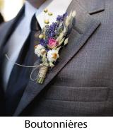 boutonnières costume marié