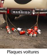 plaque minéralogique mariage