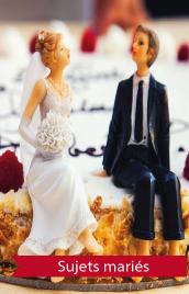 figurines mariés gâteau