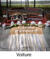 déco de voiture pour mariage