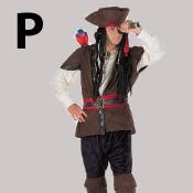costume lettre P