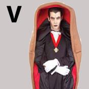 costume lettre V