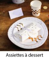 assiettes dessert jetables