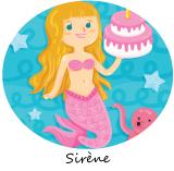 anniversaire sirène