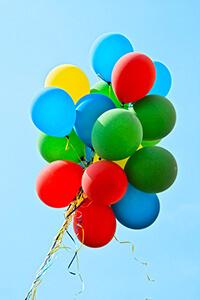 grappes de ballons baudruche pour décoration extérieure