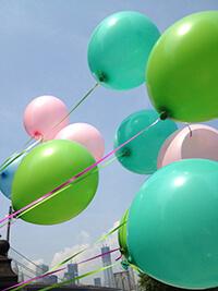 ballons couleur pour fêtes