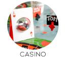 thème mariage casino