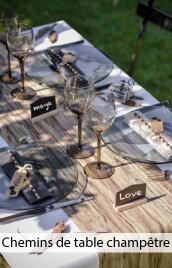 chemin de table mariage champetre pas cher