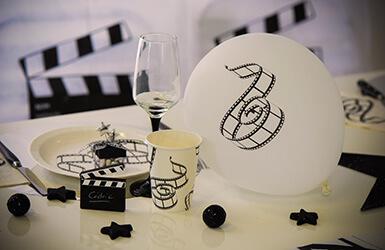 Decoration Blanc Et Noir Anniversaire  Ans