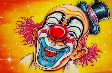 decoration anniversaire clown. Black Bedroom Furniture Sets. Home Design Ideas
