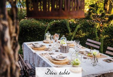 décoration de talbe mariage, baptême, communion et anniversaire à prix discount