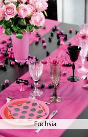 decoration mariage fuchsia