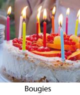 bougies gateau anniversaire