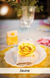 decoration mariage jaune
