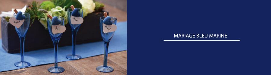 deco mariage bleu marine