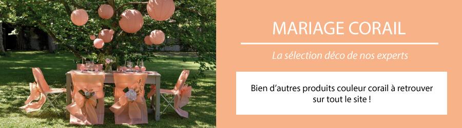 Deco Mariage Corail Decoration Couleur Saumon Peche Abricot