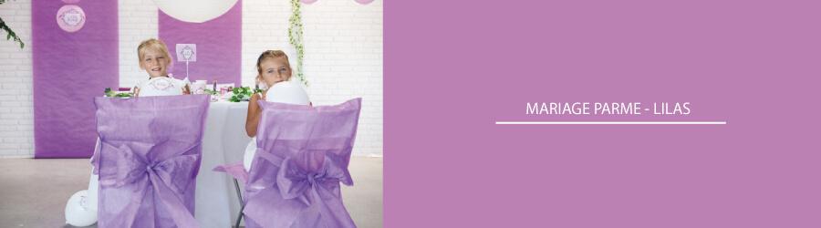 deco mariage lilas