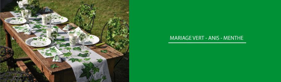 deco mariage vert