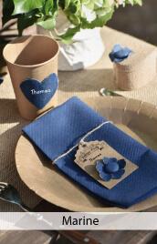 decoration mariage bleu marine