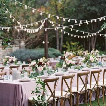Table de réception mariage