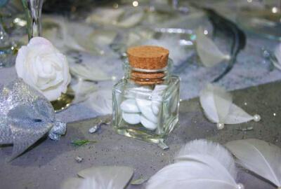 contenants à dragées en verre