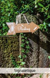 panneaux signaletique mariage