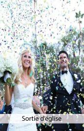 animation sortie eglise mariage