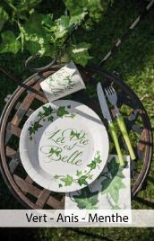 decoration mariage vert
