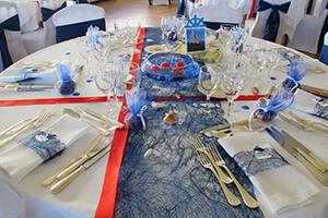 décoration mariage bleu marine